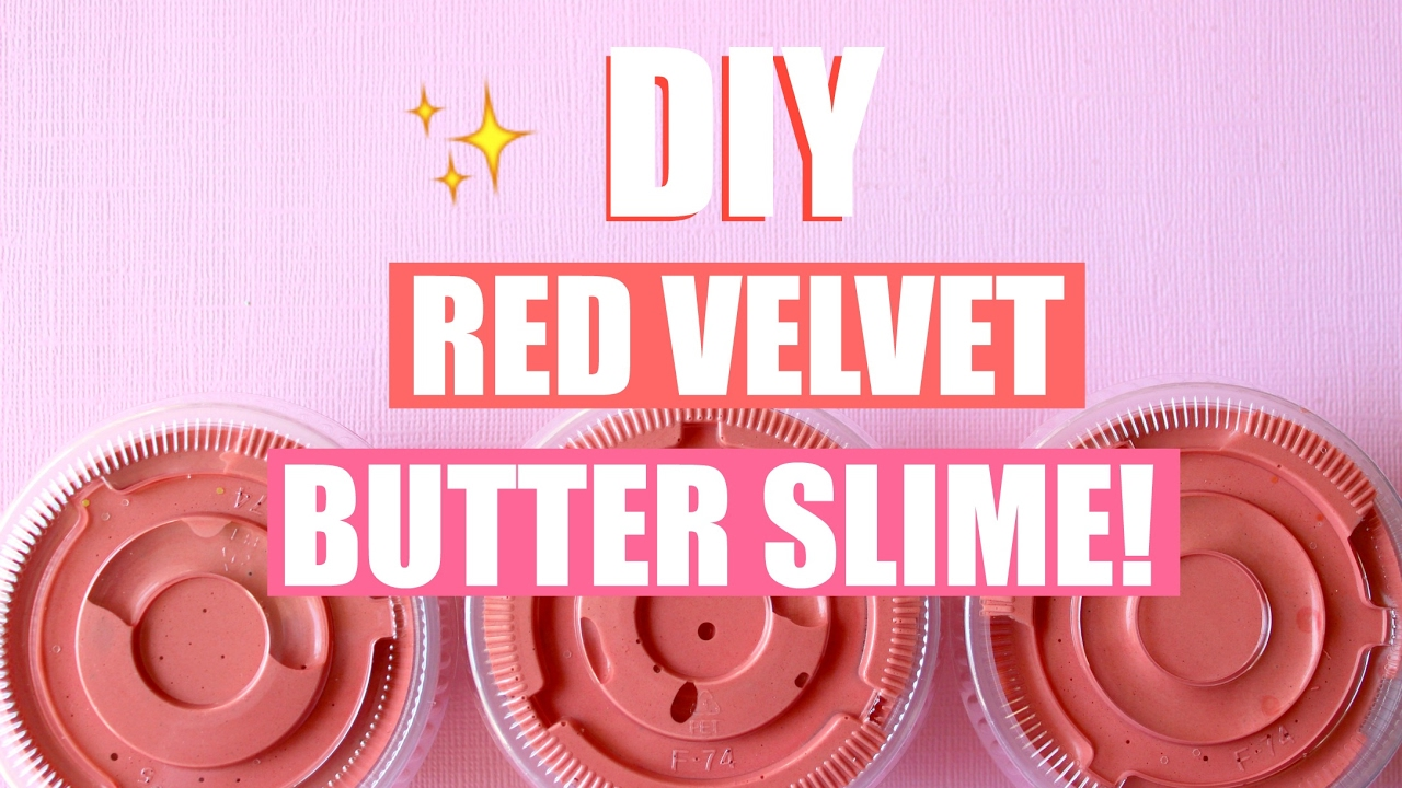 Diy Red Velvet Cake Butter Slime With Real Cocoa Powder