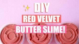 DIY RED VELVET CAKE BUTTER SLIME WITH REAL COCOA POWDER!! - Easy slime recipes