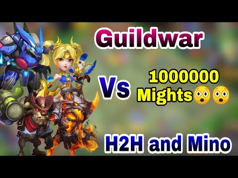 Guildwar | Top Guilds | Top 5 With 1 Million Might 😲😲😲 | Insane H2H And Mino | Castle Clash