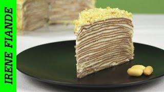 Блинный торт. Шоколадный блинный торт с кремом пломбир
