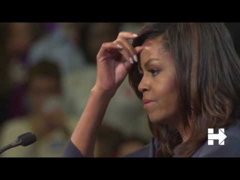 Strong speech by Michelle Obama calls out Trump for sexual assault