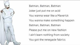 Jaden Smith - Batman - Lyrics