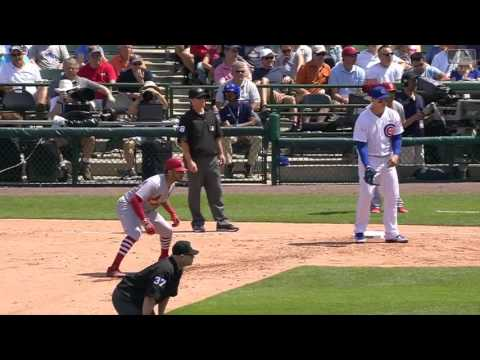 Cubs' Jon Lester picks off Tommy Pham at first MLB com 1