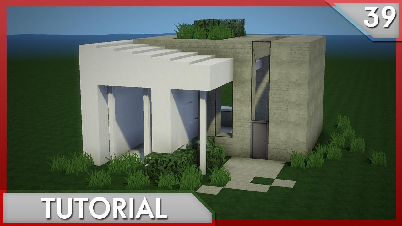 Minecraft como hacer una simple casa moderna tutorial for Eumaster casa moderna 8x8