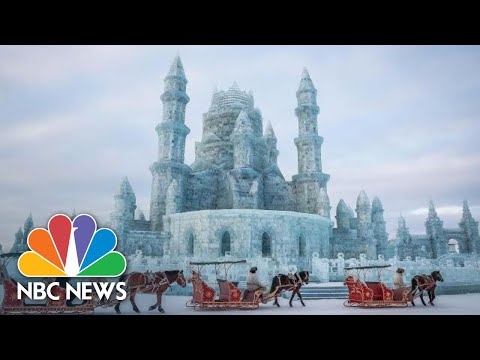 Ice Art Goes On Dazzling Display In Chinese Festival And Competition | NBC News