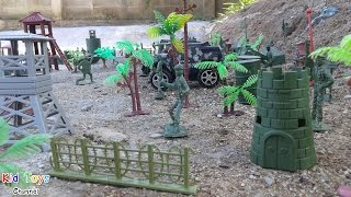 Military Base Model Plastic Toy Soldier Army Men Playset