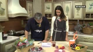 Ирина Володченко готовит пасту с овощным соусом и моцареллой