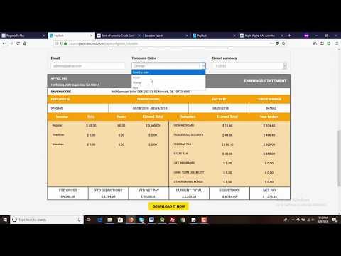How To Make Professional Free Paystub For U.S.A, Canada, U.K And Australia