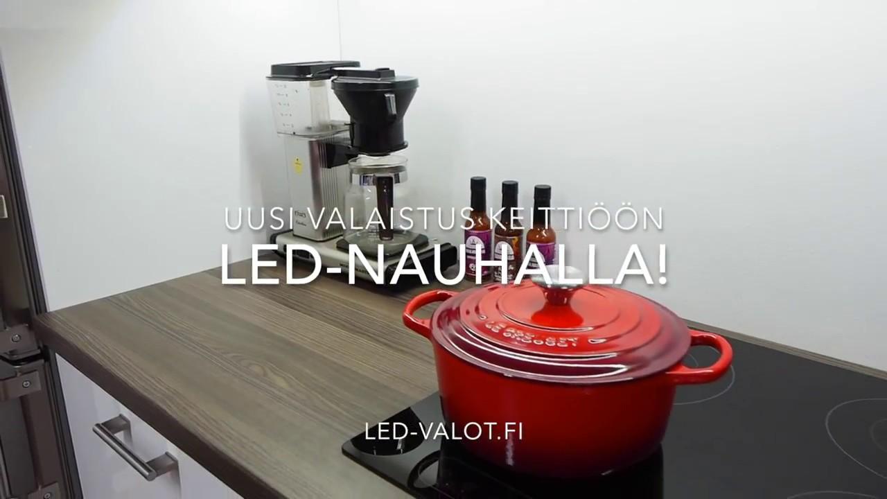 LED nauha keittiöön asennus on helppoa  YouTube