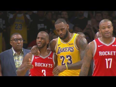 LeBron's Lakers Home Debut! Harden Dominates 4th! 2018-19 NBA Season