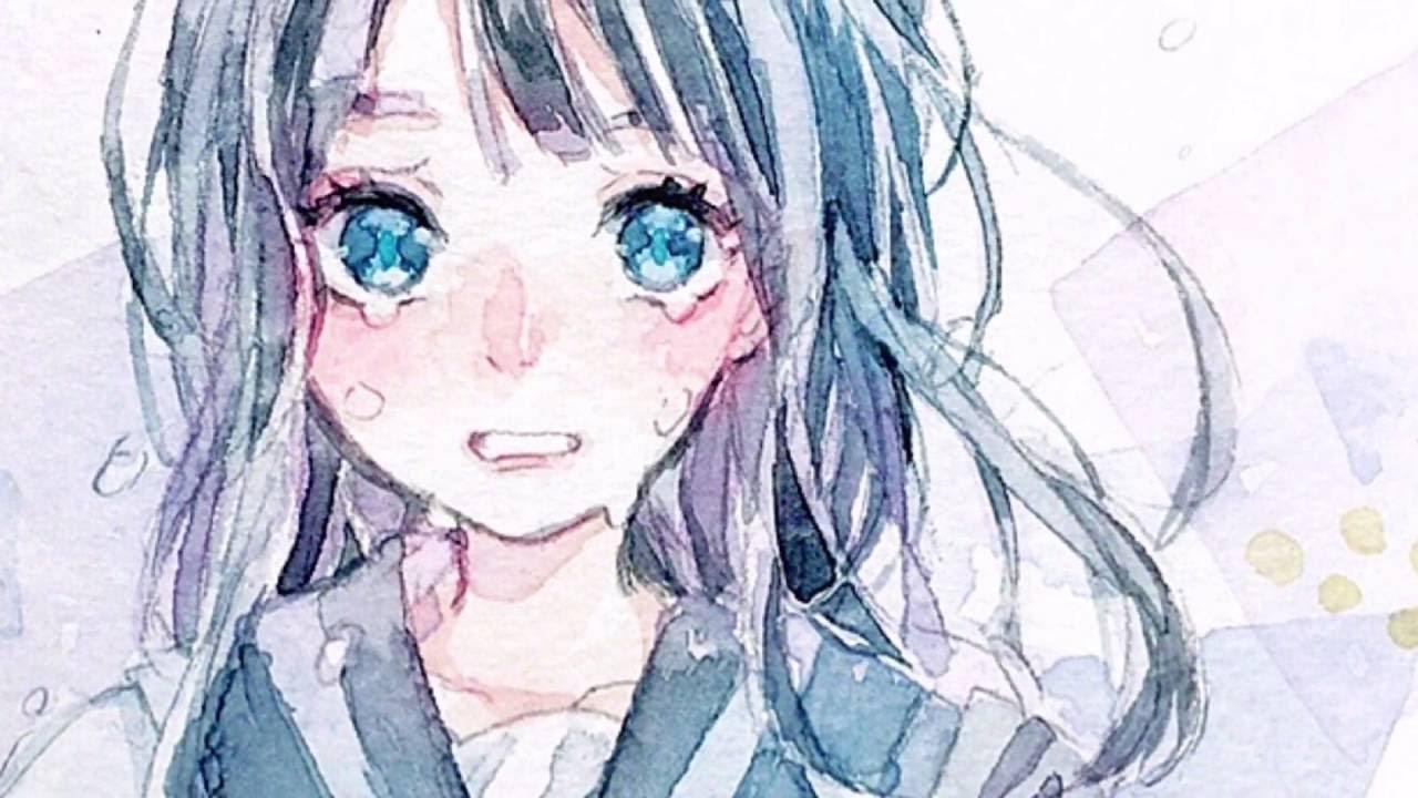 オリジナルの女の子描いてみた 透明水彩 Youtube