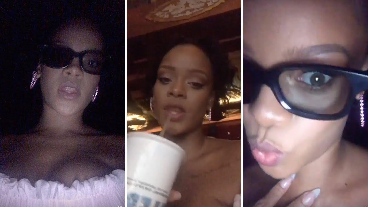 Rihanna | Snapchat Videos | October 10th 2016 - YouTube