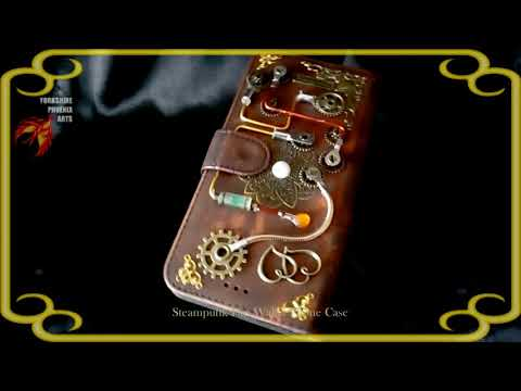 Steampunk Flip Wallet Phone Case 0047-P0007