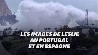 L'ouragan Leslie s'est abattu sur le Portugal et l'Espagne