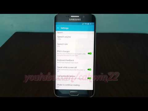 Android Lollipop : How to enable or disable Focus on speech audio on Samsung Galaxy S6