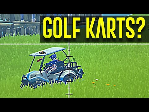 FIRST WIN IN FORTNITE SEASON 5  THEY ADDED GOLF CARTS!