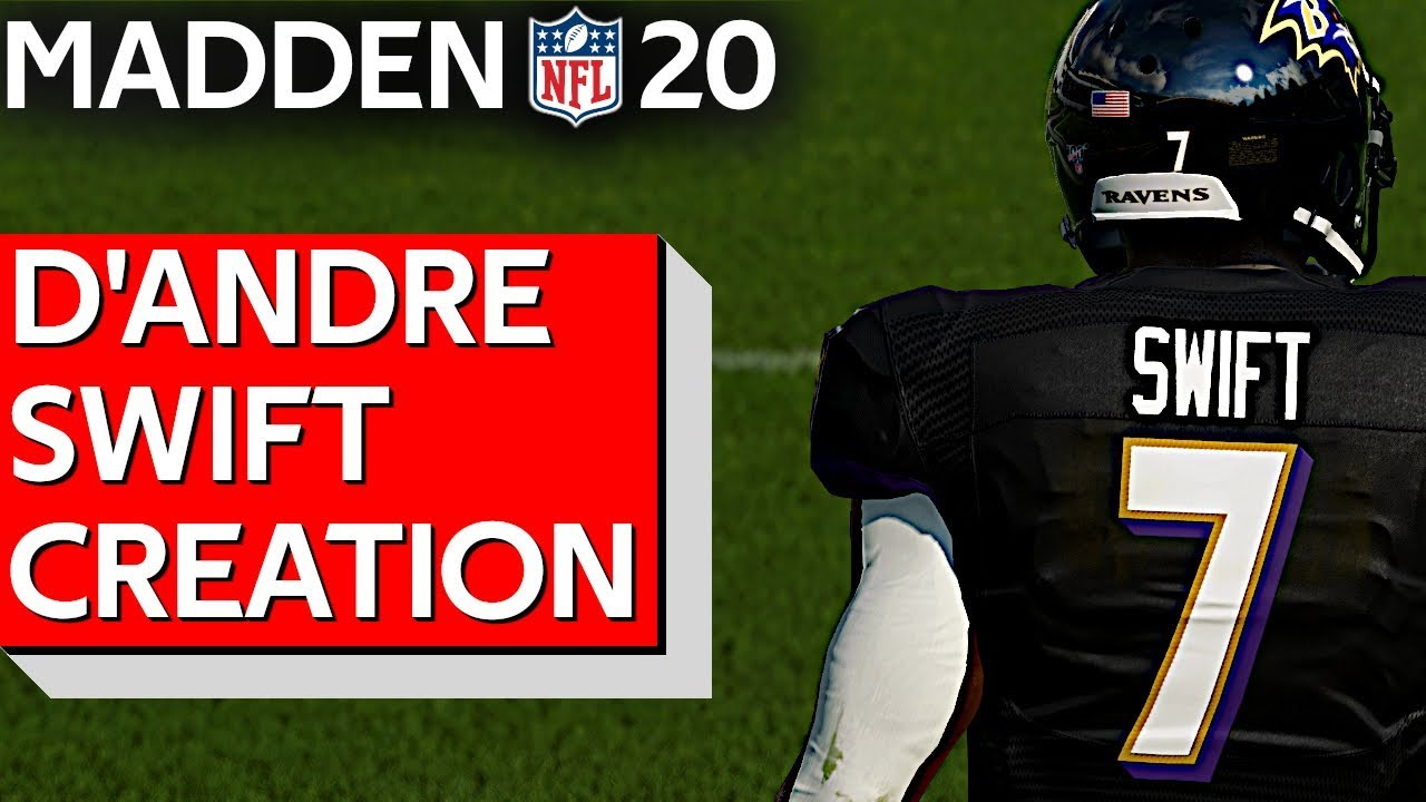 Madden 20 D'Andre Swift RB Georgia Creation 2020 NFL Draft | PS4 | Xbox 1 |  PC
