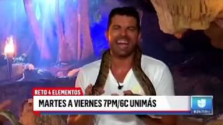 "Antonio Santana en ""Reto 4 elementos, naturaleza extrema"" (Univisión)"