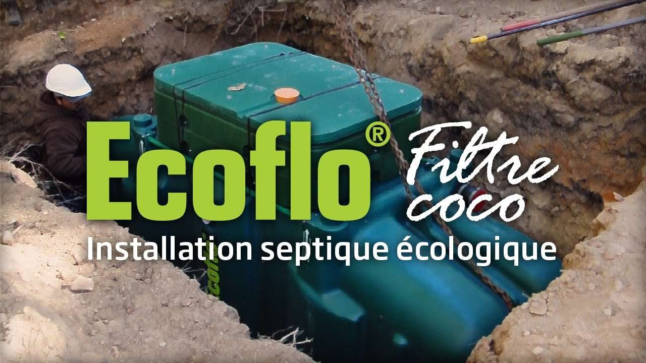 ecoflo filtre coco installation d 39 un mod le poly thyl ne youtube. Black Bedroom Furniture Sets. Home Design Ideas
