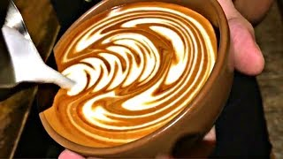 Barista Latte Art Training Compilation! Very Satisfying ~ Coffee Shop Background Noise