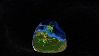 מבט מדהים לתוך הוריקן מריה