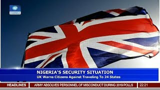 UK Warns Citizens Against Traveling To 24 States