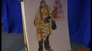 Уроки рисования (№ 121) акварелью. Рисуем эскизы композиции картины
