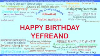 Yefreand   Languages Idiomas - Happy Birthday