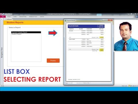 How To Create Form List Box Report In Access