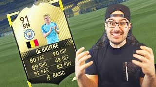 WOW WE GOT 91 KEVIN DE BRUYNE! FIFA 17 Ultimate Team