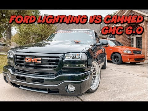 Racing The Ford LIGHTNING VS THE GMC The Outcome Was Un Expected