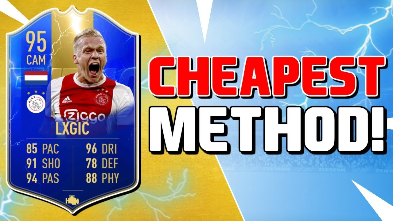 Donny Van De Beek Sbc Cheapest Method Completed Fifa 19 Ultimate Team Youtube