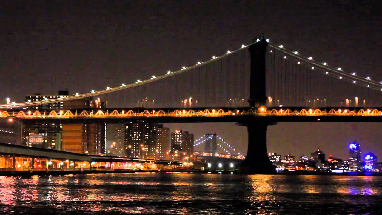 Brooklyn Bridge part 2 (New York city USA) ******relaxing ...