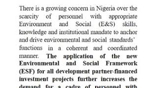 Sustainable Procurement, Environmental and Social Standards