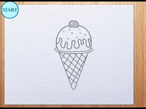 How To Draw Ice Cream Youtube
