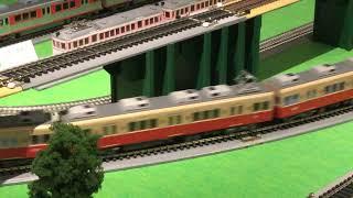 阪急百貨店鉄道模型フェスティバス2019 阪神電車8000系(赤胴車)と土佐くろしお鉄道「阪神タイガース号」