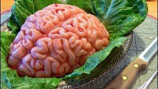 Мозги говяжьи в кляре , только для гурманов :) для избранных :) Beef brains in batter .