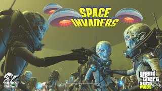 SPACE INVADERS!!! GTA 5 MODS