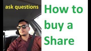 How to buy shares in Karachi stock exchange in Urdu