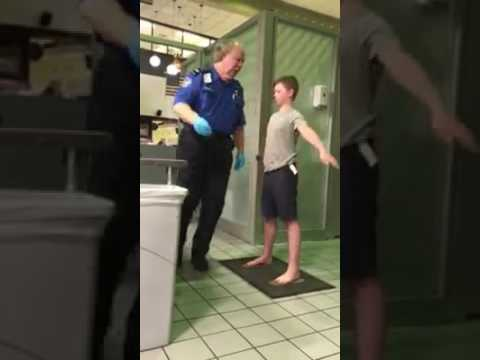 Original video - Boy treated as terrorists at Dallas Fort Worth Airport by the TSA