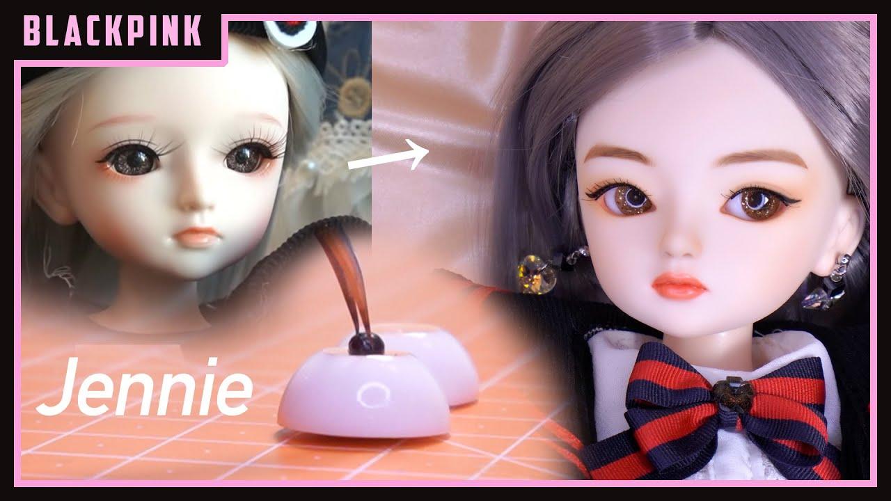 """(ENG/한글 SUB) 17"""" Doll Repaint! From Making BJD Eyes to Preppy Doll Fashion /구체관절인형 윙키돌 리페인팅"""