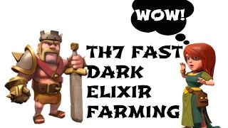 How to get the Barbarian King FAST in Under 1 HOUR || Clash of Clans || TH7 Dark Elixir Farming 2016
