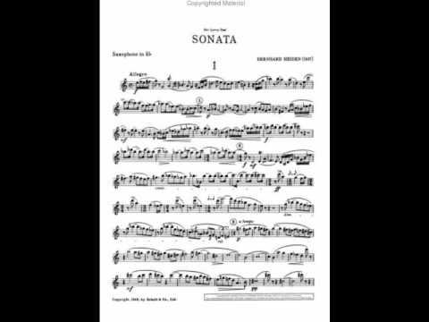 Bernhard Heiden Sonata for alto saxophone and piano Mvt I and II