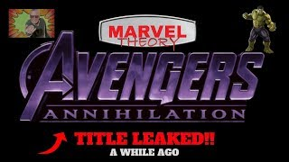 NEW AVENGERS FILM TITLE?!? -- Marvel Theory