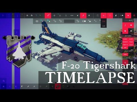 "F-20 Tigershark ""Shin Kazama"" Timelapse   BESIEGE 0.35   Behind the Build #2"