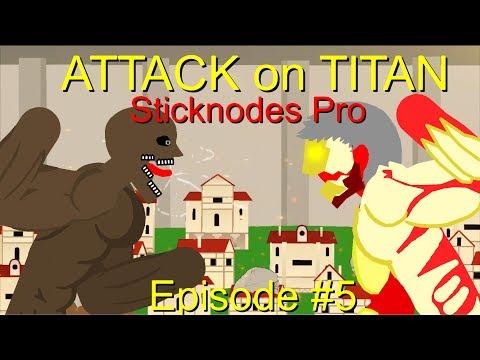 Attack On Titan   End Of Season 1 Part 1   Episode 5   Shingeki No Kyojin    Sticknodes Pro