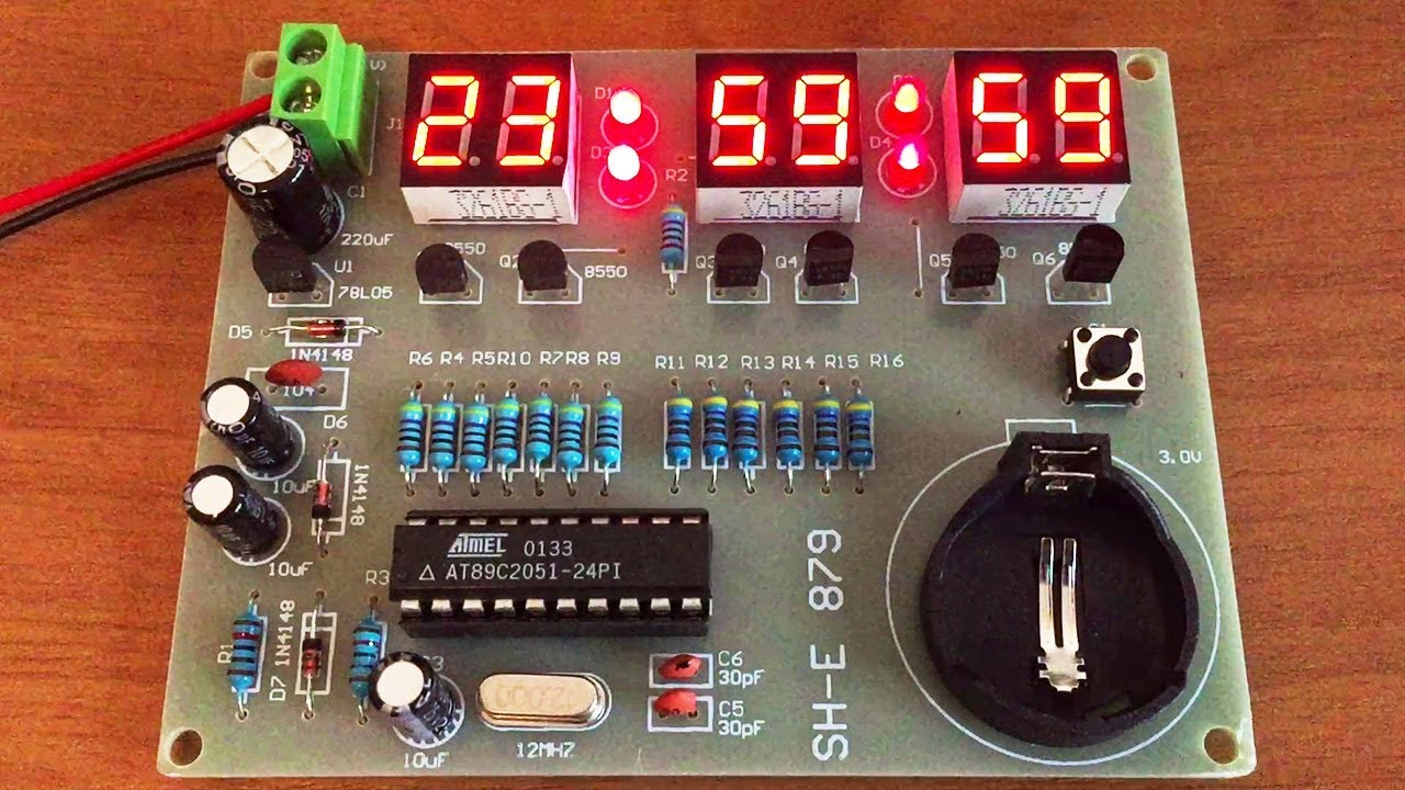 Six Digit Led Clock Diy Electronic Kit Assembly By Ste Youtube For Beginners Digital With 7segments And Rtc Electronicprojects