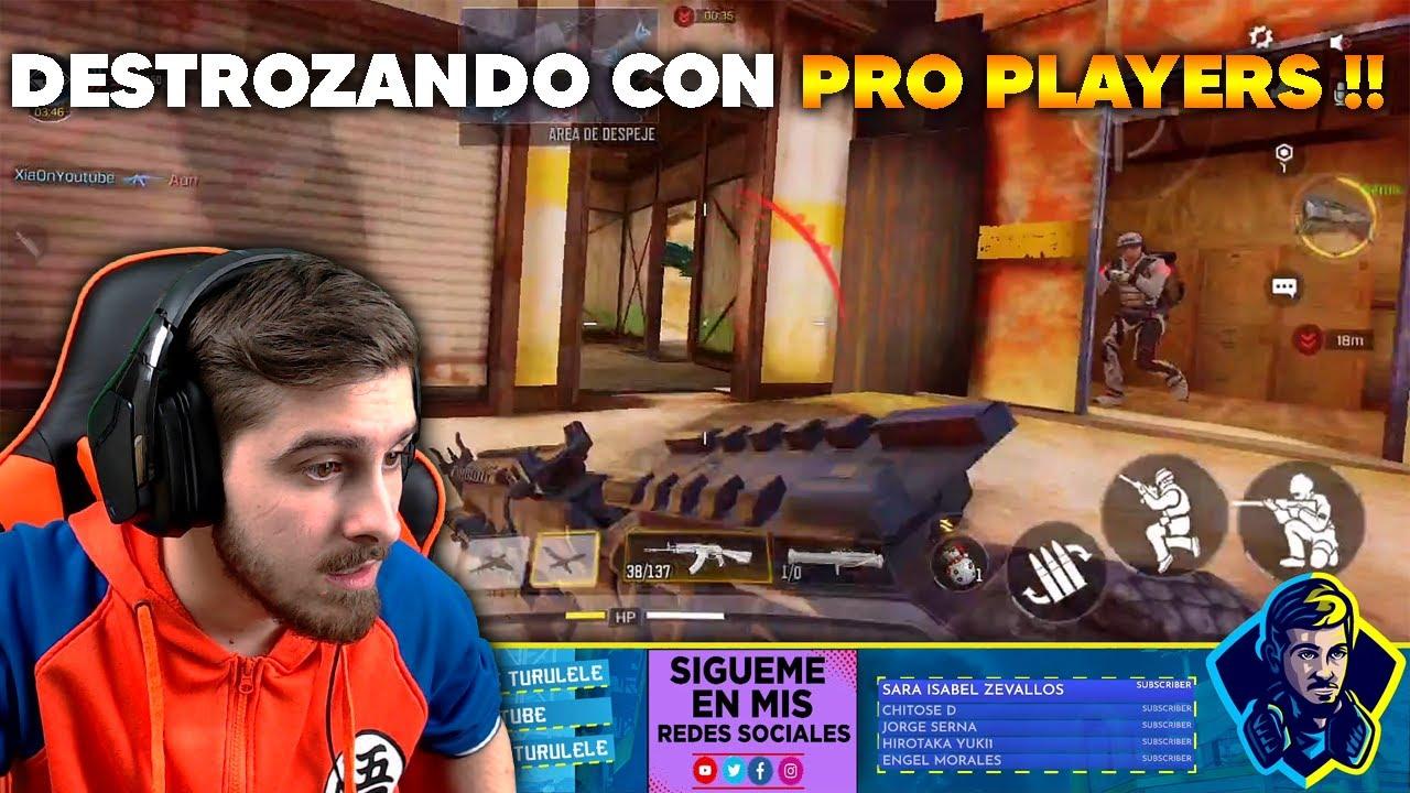 DESTROZANDO CON PRO PLAYERS !! COD MOBILE
