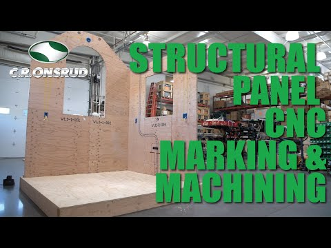 Structural Panel Marking & Machining - (CNC Router Equipped with a 6-Nozzle Paint Marking System)