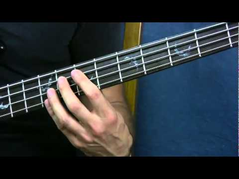 easy bass guitar song lesson no rain blind melon - YouTube